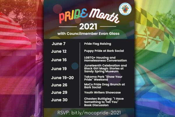 Let's Celebrate at MoCo Pride Events